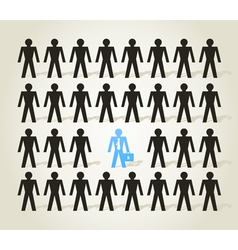 Crowd of people3 vector