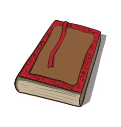 Old book icon hand drawn vector