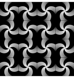 Design seamless monochrome whirl motion pattern vector
