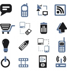 Communication signs set vector