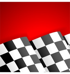 Racing checkered flag finish vector