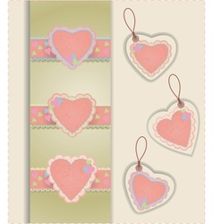 Heart labels vector
