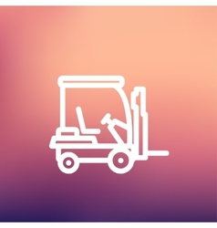 Golf cart thin line icon vector
