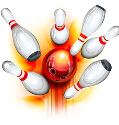 Bowling game top view vector