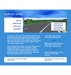 Site with road vector