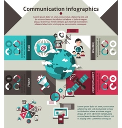 Communication infographics set vector
