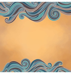 Waves paper texture vector