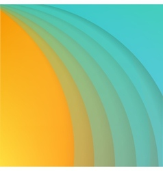 Abstract background with blue paper curves vector
