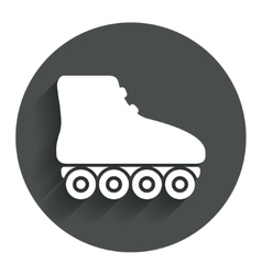 Roller skates sign icon rollerblades symbol vector