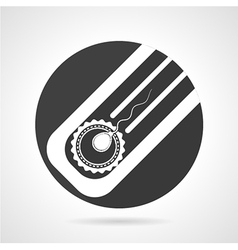 Artificial insemination black round icon vector