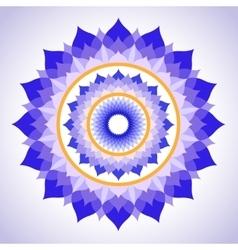Abstract painted picture mandala of sahasrara vector