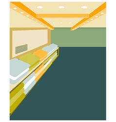 Modern design interior shop vector