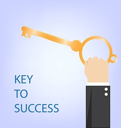 Key to success vector