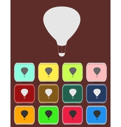 Air balloon - icon isolated vector