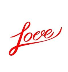 Love lettering handmade calligraphy vector