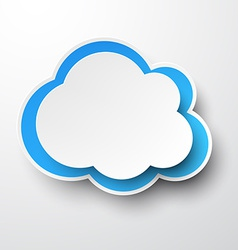 Paper white-blue cloud vector
