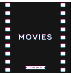 Motion picture film in 3d vector