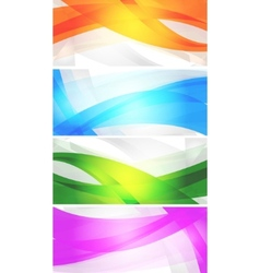 Set of vibrant banners vector