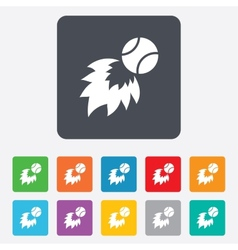 Tennis fireball sign icon fast sport symbol vector