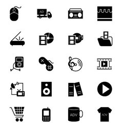 Media and advertisement icons 5 vector