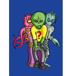 Aliens crew vector
