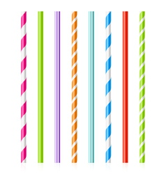 Colorful drinking straws vector