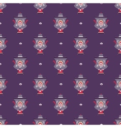 Russian tea pot symbol seamless pattern vector