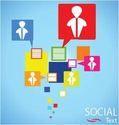Social text connection vector