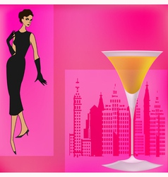 Vintage cocktails vector