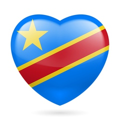 Heart icon of democratic republic of congo vector