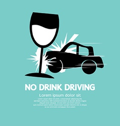 No drink driving vector
