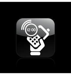Phone clock icon vector