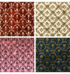 Retro style wallpaper vector