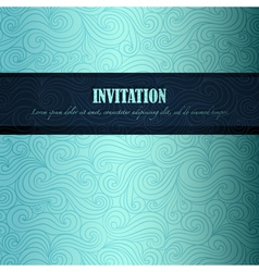 Sea theme invitation vector