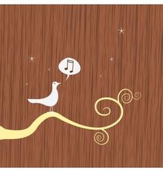 Song bird on branch vector
