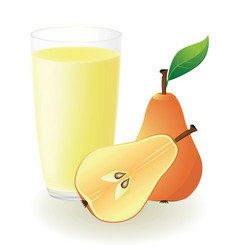 Pear juice vector