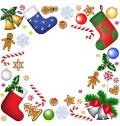 Christmas decoration frame vector