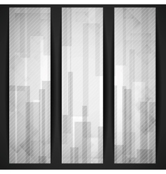Abstract white rectangle shapes banner vector