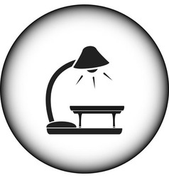 Icon with floor lamp and table vector