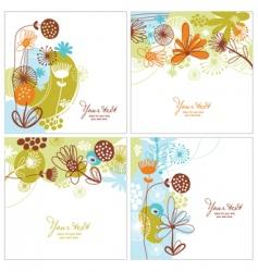 Set of floral illustration vector