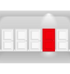 Red door vector
