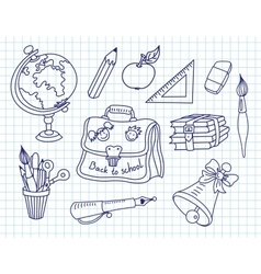 Scribble in a writing-books set vector