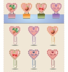 Heart clips vector