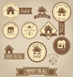 Property for sale design set vector