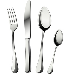 Knife fork and spoons vector