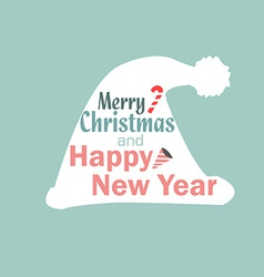 Christmas hat new year vector