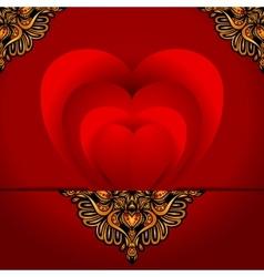 Greeting card love heart vector