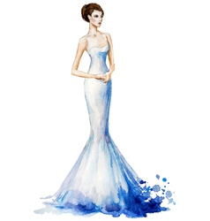 Watercolor fashion vector