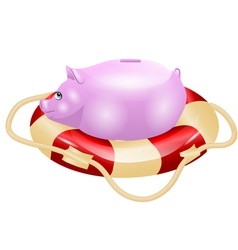 Small piggy bank vector