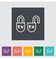 Locking doors vector